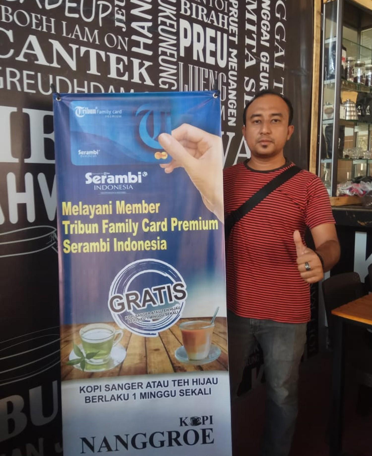 Member TFC Premium gratis Sanger, Kopi atau teh hijau varian susu di Kupi Nanggroe