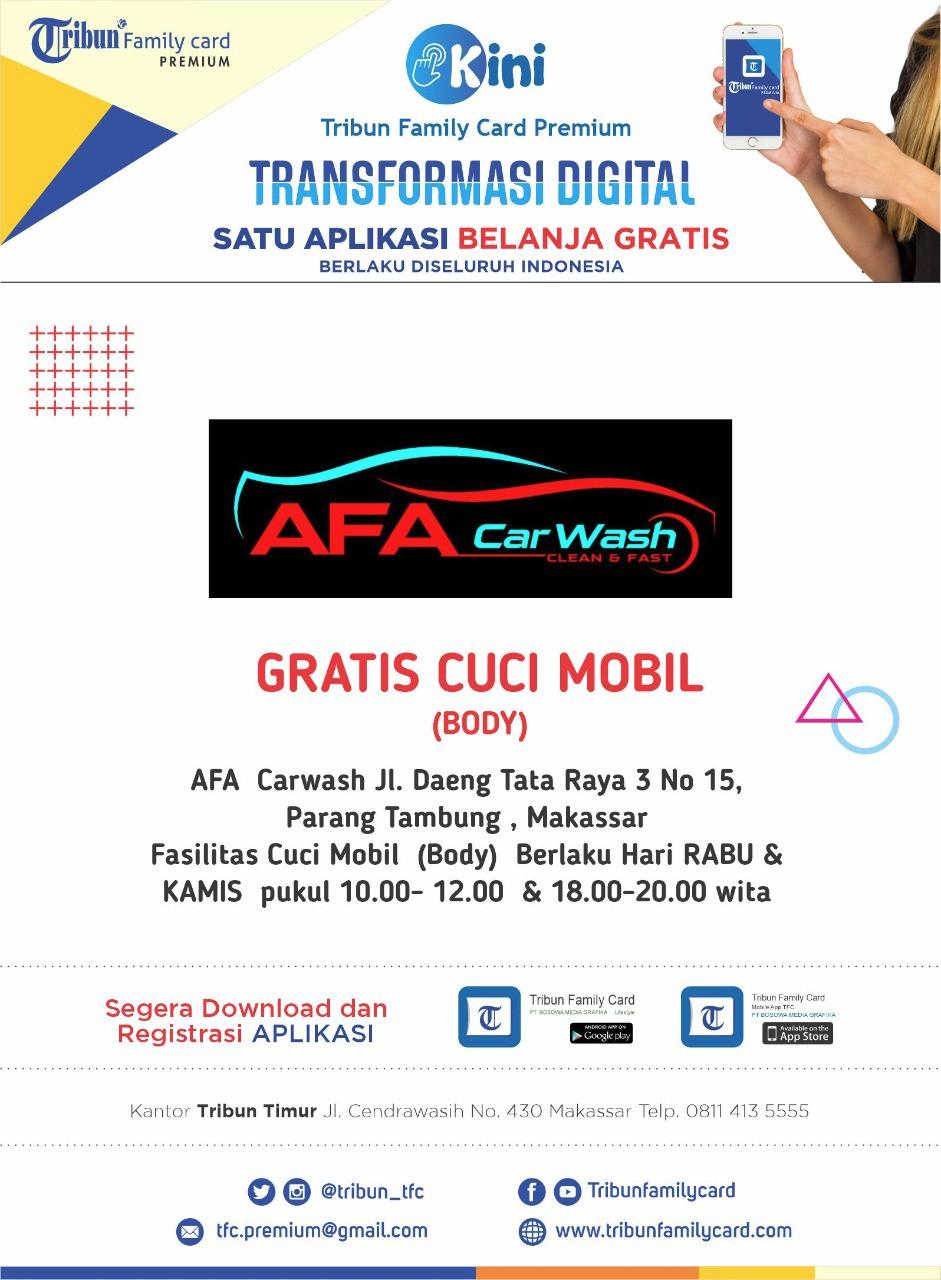 AFA CARWASH FASILITAS CUCI MOBIL GRATIS